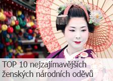TOP 10 nejzajímavějších ženských národních oděvů