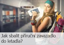 Jak sbalit příruční zavazadlo do letadla?