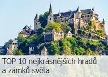 TOP 10 nejkrásnějších hradů a zámků světa
