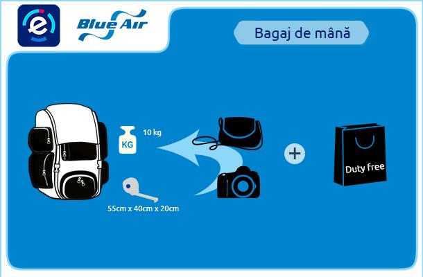 Blue Air Bagaj De Mână Blue Air Dimensiuni și Greutatea