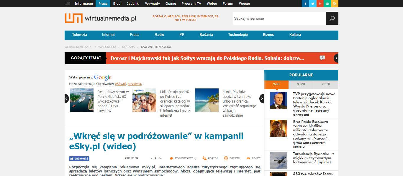 """""""Wkręć się w podróżowanie"""" w kampanii eSky.pl"""