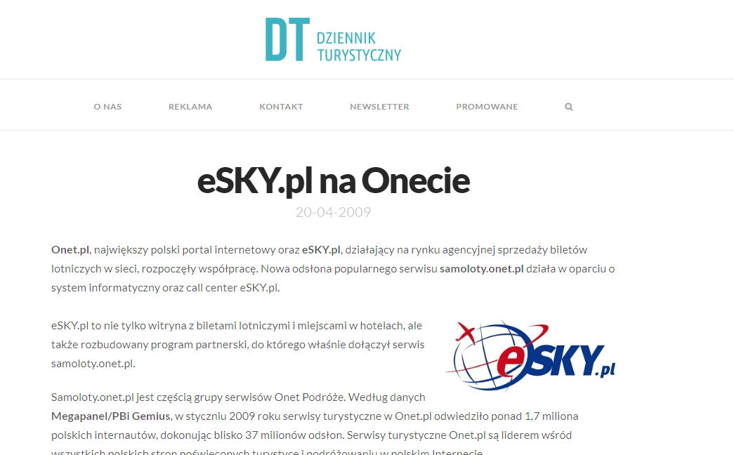 eSKY.pl na Onecie