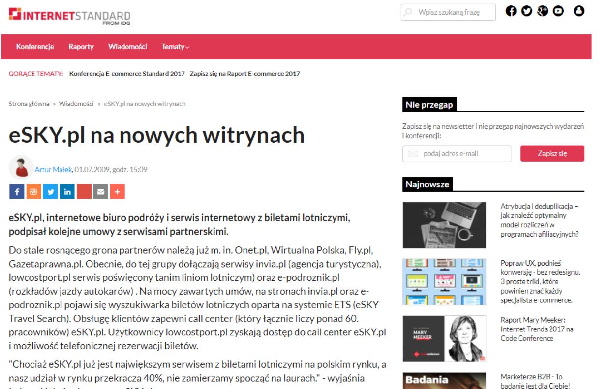 eSKY.pl na nowych witrynach