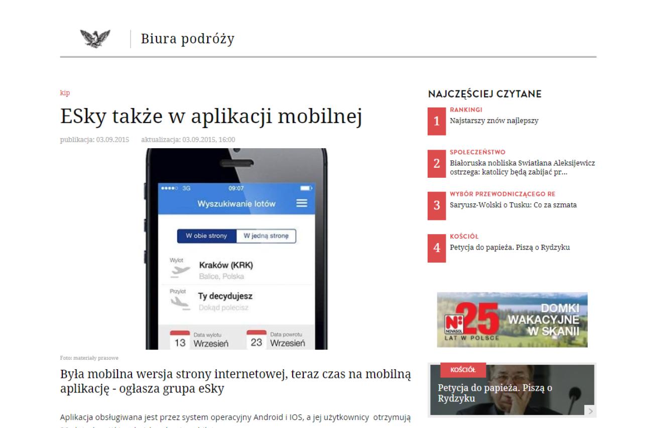ESky także w aplikacji mobilnej