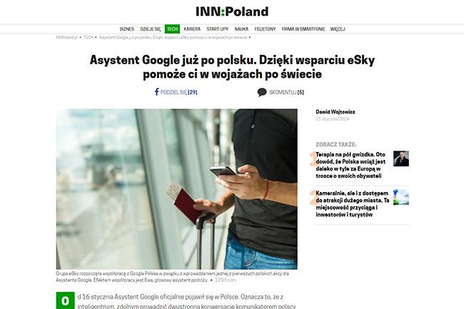 Asystent Google już po polsku. Dzięki wsparciu eSky pomoże ci w wojażach po świecie