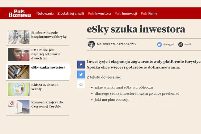 eSky szuka inwestora